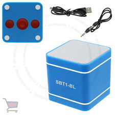 Mini Blue 300mAh Speaker Wireless Bluetooth 3.0 Hands-Free For PC Phone's UKES