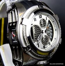 Invicta Reserve Bolt Zeus Tria Twisted Metal Silver Chronograph Swiss Watch New