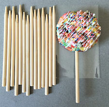 50 Wooden Candy Apple Sticks, Wooden Lollipop Sticks - 5.5""