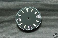 Plain Explorer Watch Dial for DG 2813 Movement Green Lume Markers