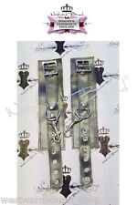 X495 CUFFS Westward Bound Couture PEARLSHEEN PEWTER O/S **MADE+DESIGNED IN UK**