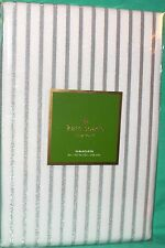 KATE SPADE HARBOR DRIVE WHITE SILVER METALLIC STRIP TABLECLOTH OBLONG 60X102 NEW
