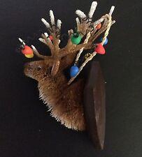 Pottery Barn Bottle Brush REINDEER w/ TANGLED LIGHTS Ornament CHRISTMAS Buck NEW