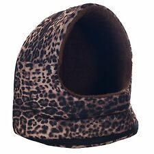 Leopard Canopy Cat Cave House for Little Pets Dog House Sleeping Bed