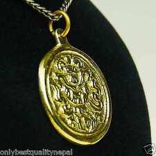 Ciondolo D'oro Gioiello Amuleto Buddha in ottone felicità Simbolo a89