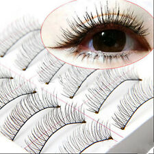 Makeup Handmade Extension False Eyelashes Cross 10 Pairs Eye Lashes Soft Natural