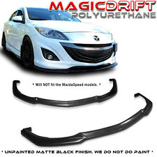 09-11 Mazda 3 MZ MS Speed Style Front Bumper Lip Kit JDM PU 4Dr 5Dr