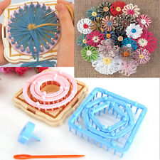 9X Flower Knitting Loom Daisy Pattern Maker Wool Yarn Needle Home Craft Exotic