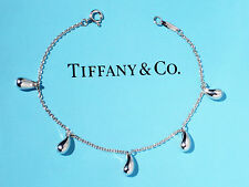 Tiffany & Co Elsa Peretti Sterling Silver 5 Teardrop Bracelet