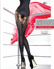 """New Collection Fiore """"GLADIS"""" Patterned Tights 40 Denier Mock Suspender Tights"""