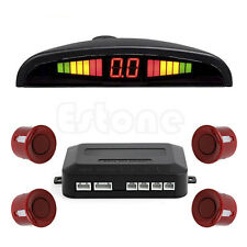 LED Display 4 Parking Sensors Car Auto Backup Reverse Radar System Alarm Kit Red