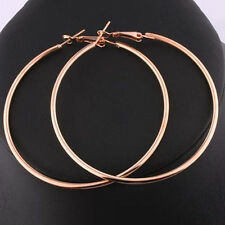 Round Big Large Hoop Huggie Loop Earrings for Women HG