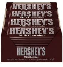 Hershey's Milk Chocolate Bars - 36 Count - 1.55 OZ - Fresh Bulk Candy