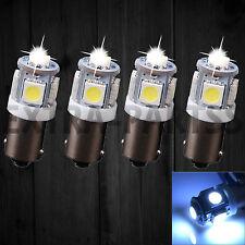 4pcs T11 BA9S 5050 5 SMD Xenon White High Power LED Light Bulb Car DC12V Lamp