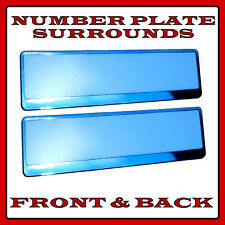 2x Number Plate Surrounds Holder Chrome for Alfa Romeo 156