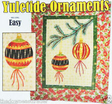 Yuletide Ornaments Christmas Quilt Pattern Mish-Tiff Creations MSH002 Skill Easy