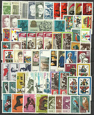 EAST GERMANY DDR 1967 COMPLETE YEAR STAMP COLLECTION 84v 2 S/Sh Mint Never Hinge