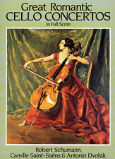 Schumann Saint-Saens Dvorak Great Romantic Cello Sheet Music Book