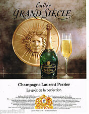 PUBLICITE ADVERTISING 065  1980  CHAMPAGNE LAURENT PERRIER  cuvée GRAND SIECLE