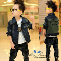 New Kids Toddler Clothing Boys Jean Long Sleeves Coat Jackets Outerwear Sz4-9Y