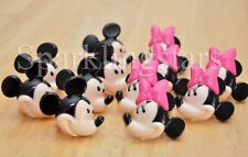 12 Minnie Mouse And Mickey Mouse Cupcake Rings Birthday Party Favors Toppers