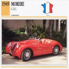 1949 MORERE G.M.L. Racing Classic Car Photo/Info Maxi Card