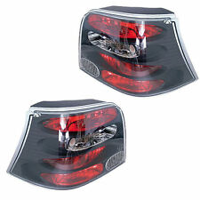 VW Volkswagen Golf Mk4 98-04 Black Clear Lens Rear Back Lexus Tail Lights - Pair