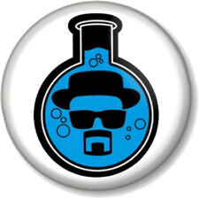 Heisenberg Chemical Meth Flask Breaking Bad 25mm Pin Button Badge Walter White