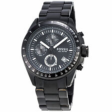 Fossil Decker CH2601P Chronograph Black Stainless Steel Quartz Men's Watch