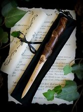 Silver Birch Wood Spiral Athame with Witches Knot Wicca Pagan Spells Altar Gift