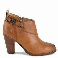 New in Box Womens Frye Jenny Button Short Tan Vintage Leather Boots Size 9