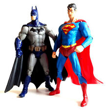 "DC Comics Universe ARKHAM CITY BATMAN & SUPERMAN toy 6"" figure set RARE!"