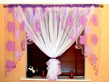 AMAZING VOILE CURTAINS 6 COLOURS ,ORGANZA,WHITE,RED,ORANGE,BROWN,VIOLET,BLUE