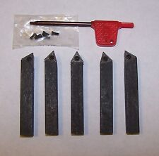 "Sherline Craftsman Atlas 1/4"" 5 PC INDEXABLE Carbide Insert Tool Bit"