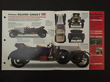 ROLLS-ROYCE SILVER GHOST IMP Hot Cars Spec Sheet Folder Brochure RARE