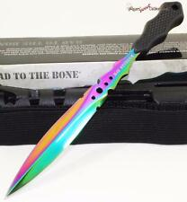 United M48 Titanium Rainbow Urban Stinger Survival Combat Fighting Dagger Knife