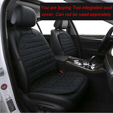 Pair 12V Heated Car Seat Cover Set Thermal Padded Cushion Front Seat Warmer NEW