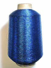 LUREX METALLIC GLITTER THREAD YARN LARGE 500g CONE - COLOUR ROYAL BLUE
