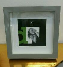 Grey square shadow box photo picture frame 5x5/7x7