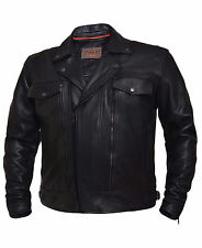 Classic Kids Motorcycle Jackets - Black Leather - 8 - Boys Biker Coat - Childs