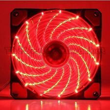 New Ultra Bright 120mm Acrylic Fan Dazzling Red LED Computer PC Cooling Silent