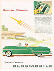 Vintage 1953 Magazine Ad Oldsmobile Lithe And Lovely Ninety-Eight Convertible