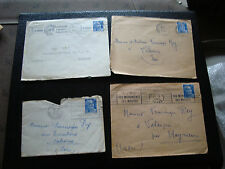 FRANCE - 4 enveloppes 1954 (cy26) french