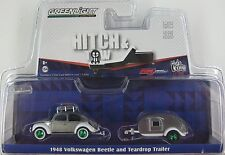 "GREENLIGHT HITCH & TOW ""GREEN MACHINE"" 1948 VOLKSWAGEN BEETLE & TEARDROP 1:64"
