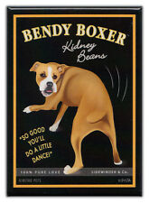 Retro Dogs Refrigerator Magnets: BOXER | KIDNEY BEANS | Vintage Advertising Art