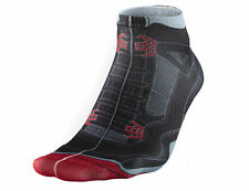 Nike Air Jordan 4 Sneaker Socks Black Red Grey Sz X-Large 483258-010