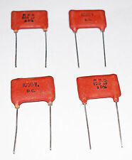 VINTAGE SILVER MICA CAPACITOR 125pF 5% 1000v - FOUR PIECES - MANUFACTURER RBS