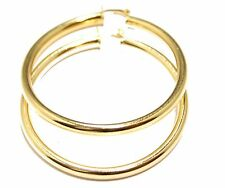 Round 2 inch  Hoops 18K Gold Plated Hoops - Shinny Hoop Earrings 4mm Width