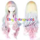 Lolita Harajuku Style Mixed Multi-Color Curly Long Hair Anime Cosplay Wigs/wig