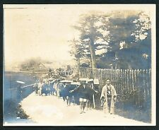 1903 JAPANESE FUNERAL PROCESSION Vintage Photo